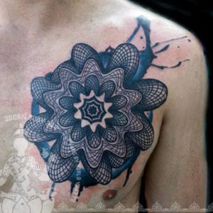 Adorn Body Art chest tattoo